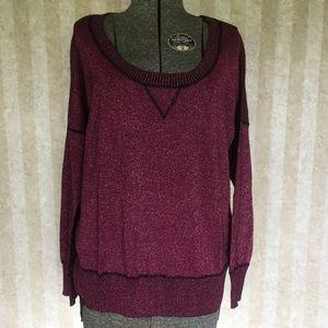 Plus Size Metallic Sweater